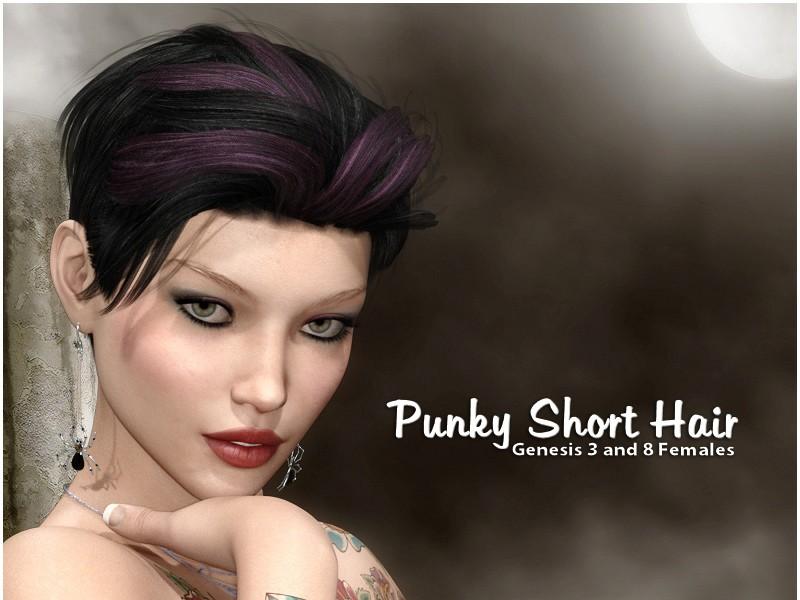 Punky Short Hair for DazStudio