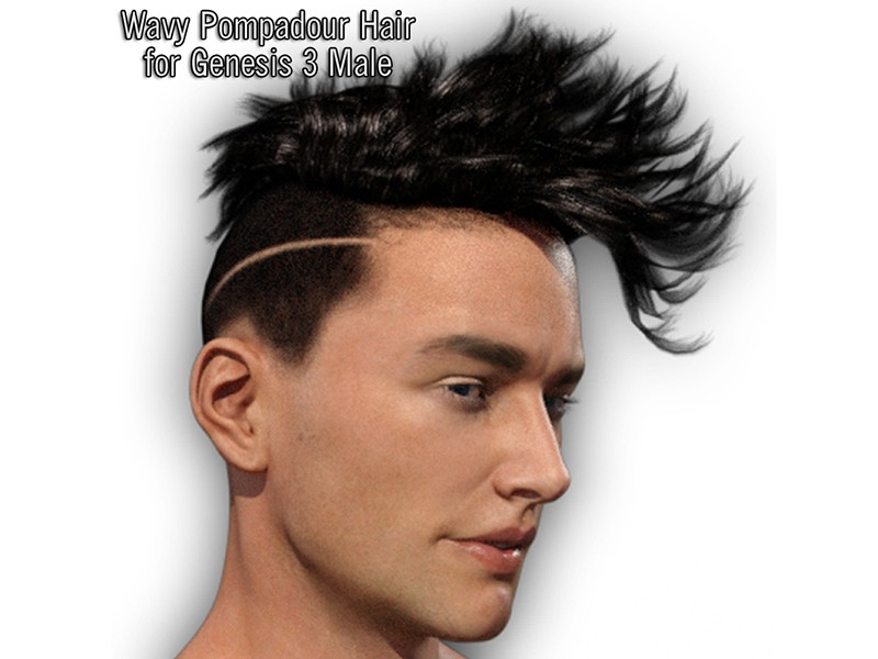 Wavy Pompadour Hair for G3M