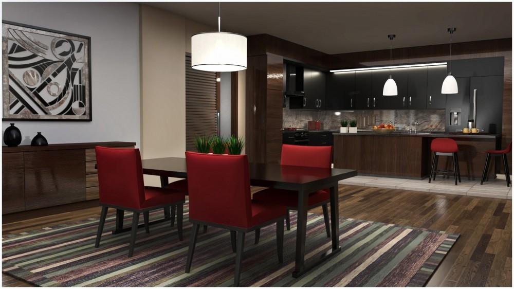 Modern Apartment: Kitchen