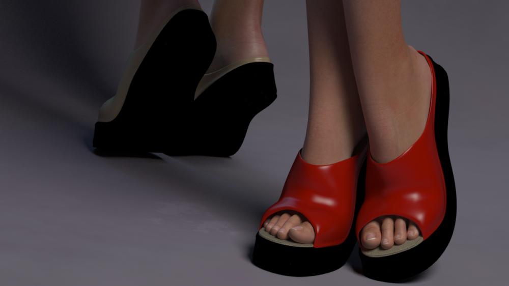 Platform Wedge for Poser's La Femme