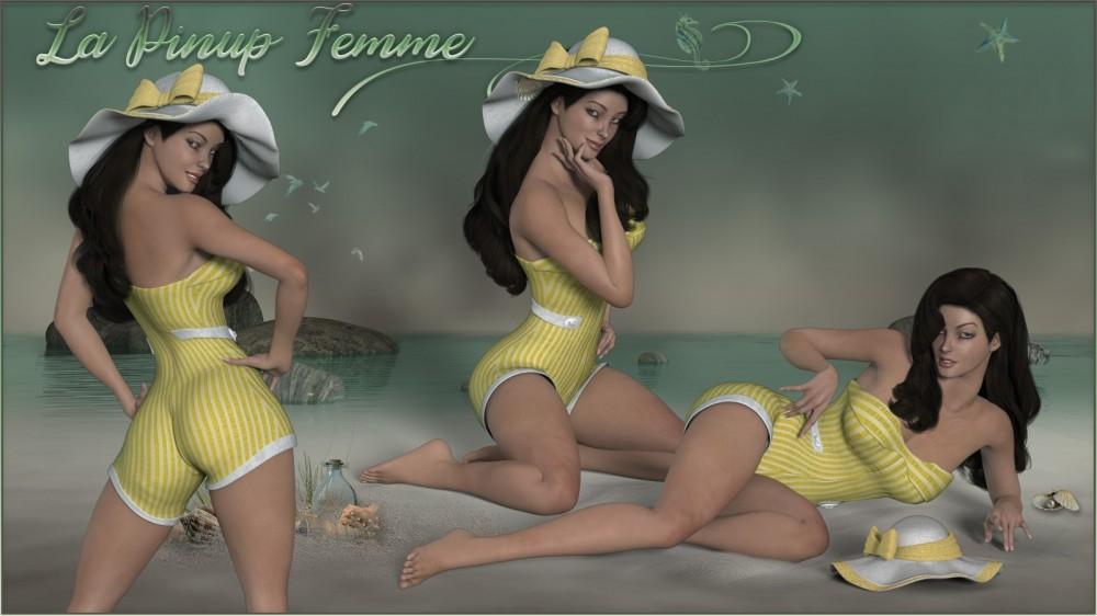 La PINUP Femme - poses for Poser's La Femme