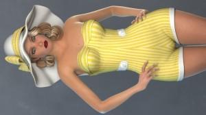 1950s Swimsuit for La Femme