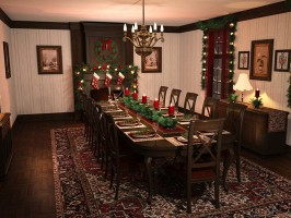Christmas Dining Room by GrayCloudDesign