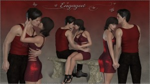 Engaged for Poser's La Femme and LHomme