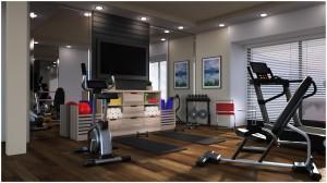 Modern Apartment: Fitness Room for Poser or DAZ Studio