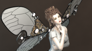Steampunk Wings for Poser