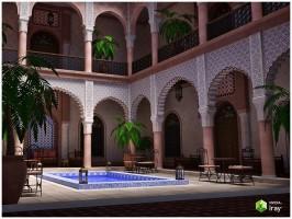 Moroccan Riad for Poser and DAZ Studio