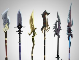 Fantasy Spears and Poses