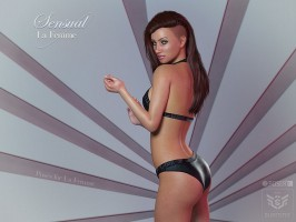 Sensual poses for La Femme