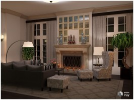 Modern Interiors - Living Room 1 3D Model