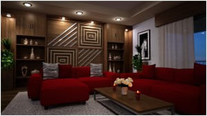 Modern Apartment - Living Room Set