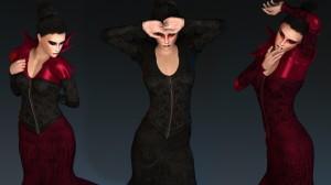 La Vampire for Poser's La Femme