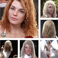 Rapael Tight Curls for DAZ by neftis