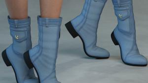 Denim Boots for Poser's La Femme