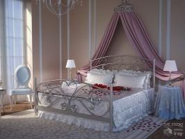 Romantic Bedroom by GrayCloudDesign