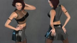 Rebel Her 03 for Poser's La Femme