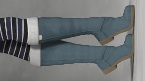 La Winter Boots for Poser's La Femme