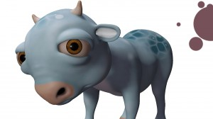 ButterCup, 3D model of a cow