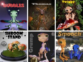 Stand-alone toon figures