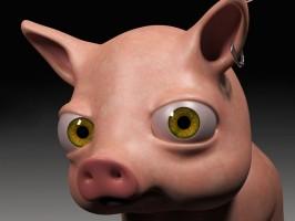 Hamlet, 3D model of a pig